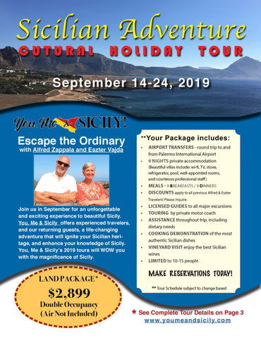 2019 Sicilian Adventure Holiday Tour