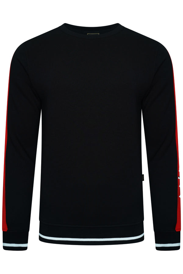 LEGENDE PARIS BLOCK SWEAT  - BLACK/RED