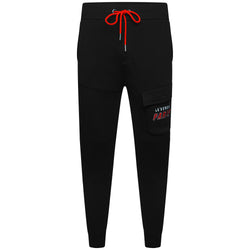 LEGENDE PARIS CARGO FLC PANT  -  BLACK/RED