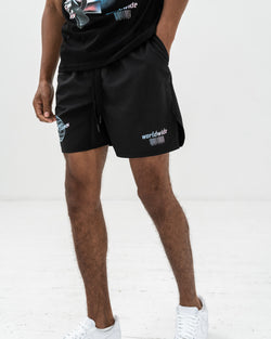 WORLWIDE BLACK NYLON SHORTS