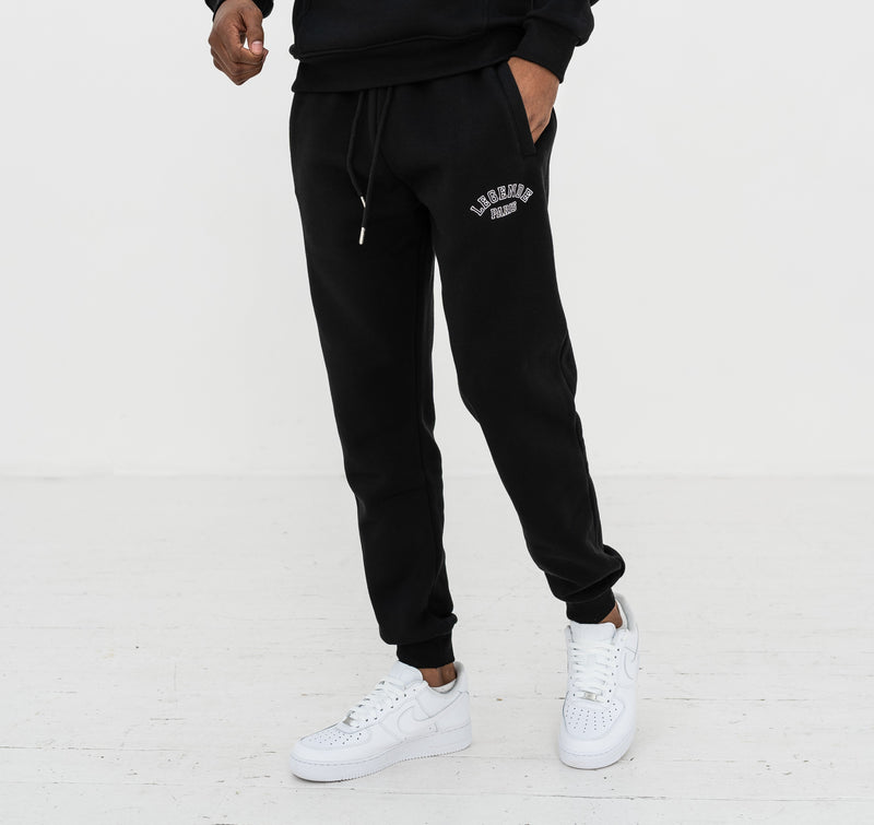 CORE LOGO TRACK PANT  -  BLACK/WHITE