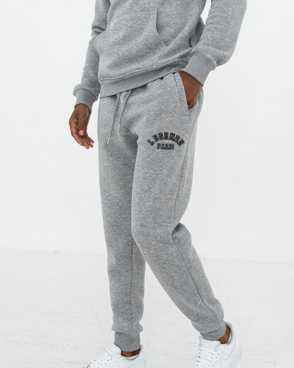 APPLIQUE TRACK PANT  -  GREY/BLACK
