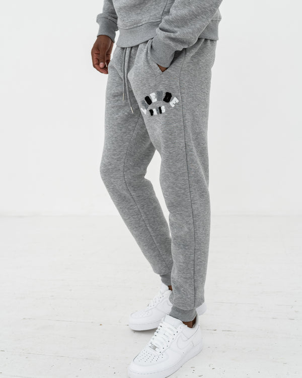CHENILLE TRACK PANT  -  GREY/MULTI