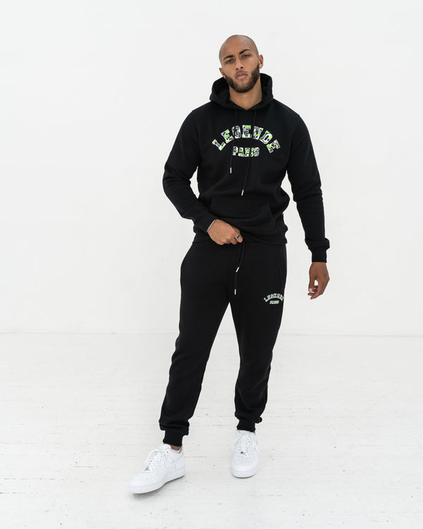 LE'GENDE CAMO OTH HOOD  -  BLACK/GREEN/GREY