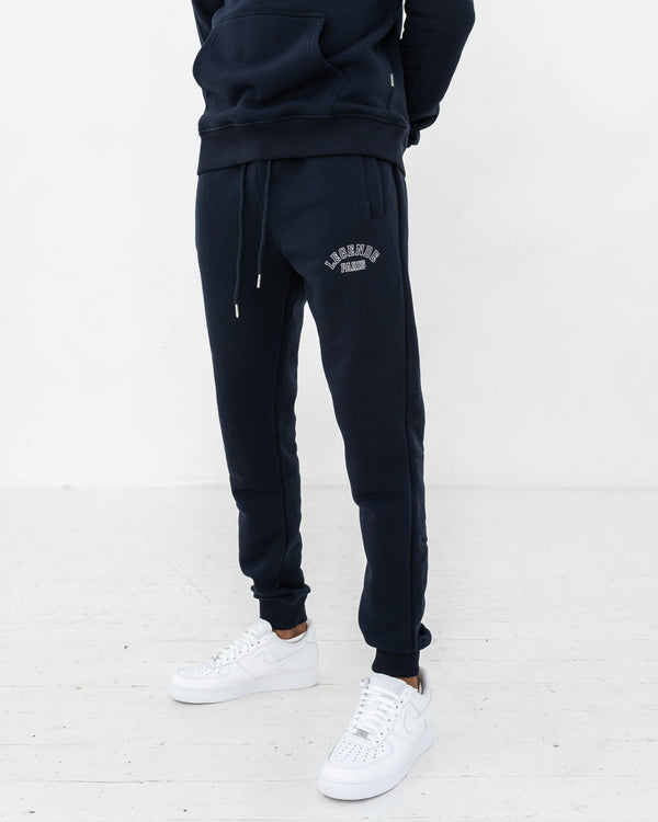 CORE LOGO TRACK PANT  -  NAVY BLUE/WHITE