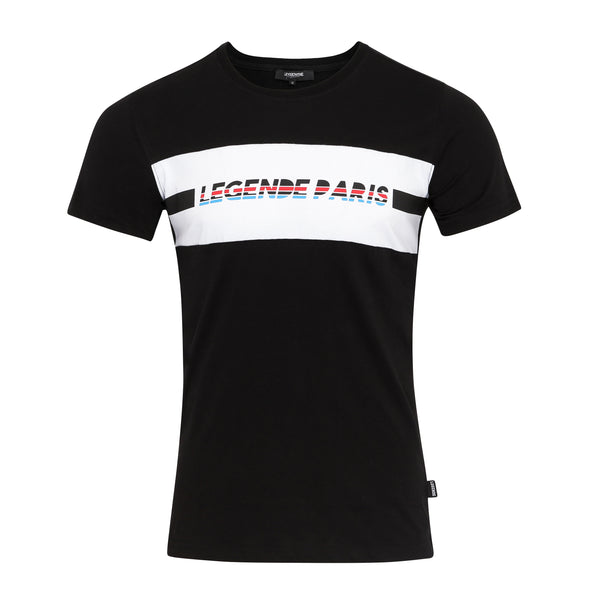 LEGENDE BLOCK TEE -  BLACK/WHITE