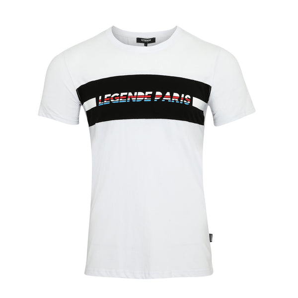 LEGENDE BLOCK TEE -  WHITE/BLACK