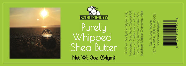 Purely Whipped Shea Butter, 3oz