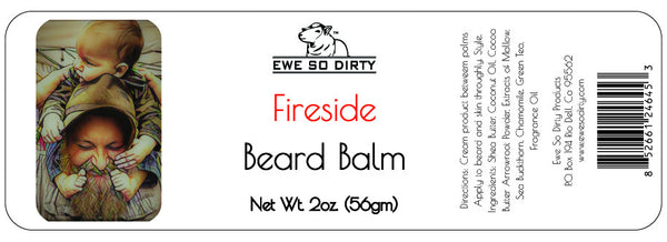 Beard Balm & Leave In Conditioner, FIRESIDE, 2 oz