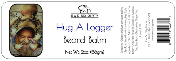 Beard Balm & Leave in Conditioner, HUG A LOGGER, 2oz