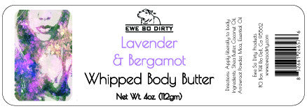 Whipped Shea Body Butter, LAVENDER & BERGAMOT, 3 oz