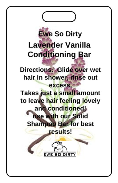 Lavender Vanilla Solid Conditioner Bar, 42 gm