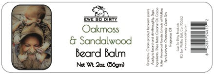 Beard Balm & Leave in Conditioner, Oakmoss & Sandalwood 2oz