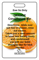 Orange Solid Conditioner Bar, 42 gm