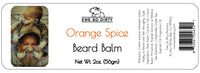 Beard Balm & Leave In Conditioner, ORANGE SPICE, 2 oz