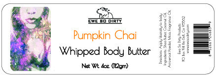 Whipped Shea Body Butter, PUMPKIN CHAI, 3 pz