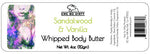 Whipped Shea Body Butter, Sandalwood & Vanilla, 3 oz