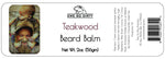 Beard Balm & Leave In Conditioner, TEAKWOOD, 2 oz