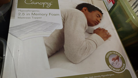 Canopy 1.5 Memory Foam Mattress Topper- New Full Size & Medical Supplies u2013 BrandNames4U