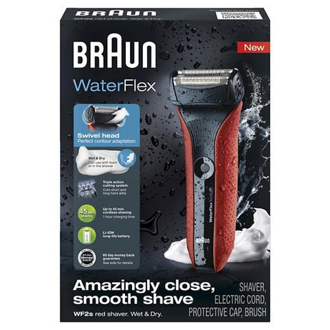 Braun Waterflex WF2S Red Shaver