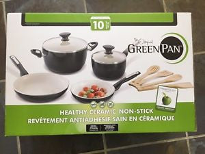 The Original Green Pan Healthy Ceramic Non-Stick 10 Pc Set