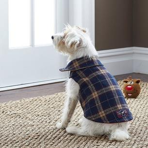 Adirondack Plaid Jacket Blue Outdoor Dog Size Med