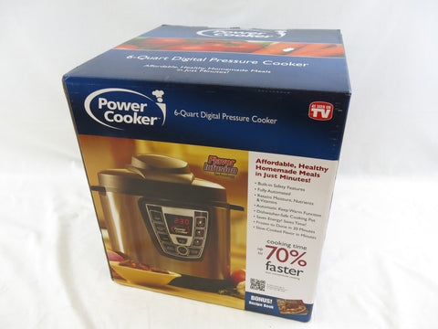 Power Cooker 6-Quart Digital Pressure Cooker As Seen On TV