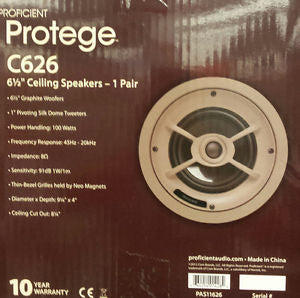 "Proficient Protege C626  6 1/2 "" Ceiling Speakers"