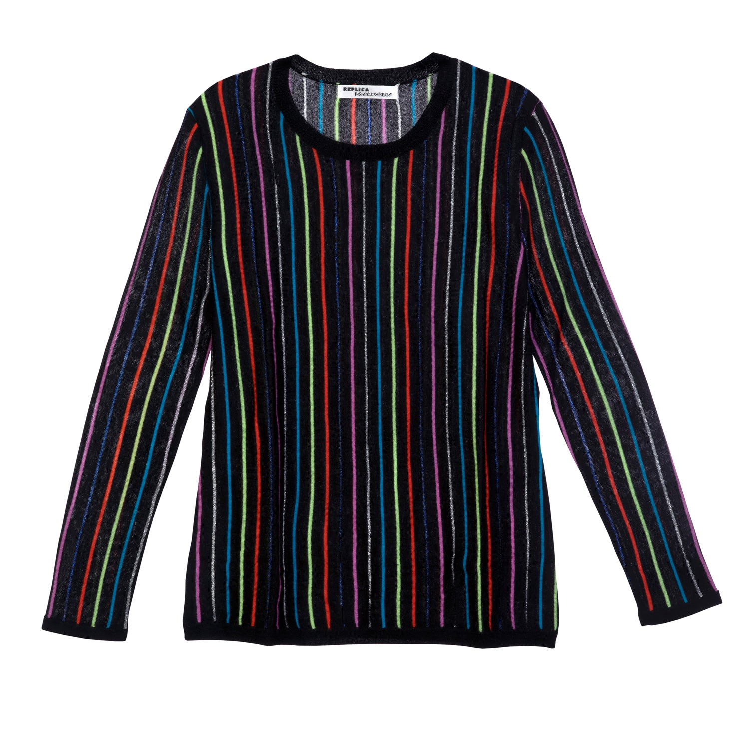 Cashmere Party Stripe Long Sleeve Tee