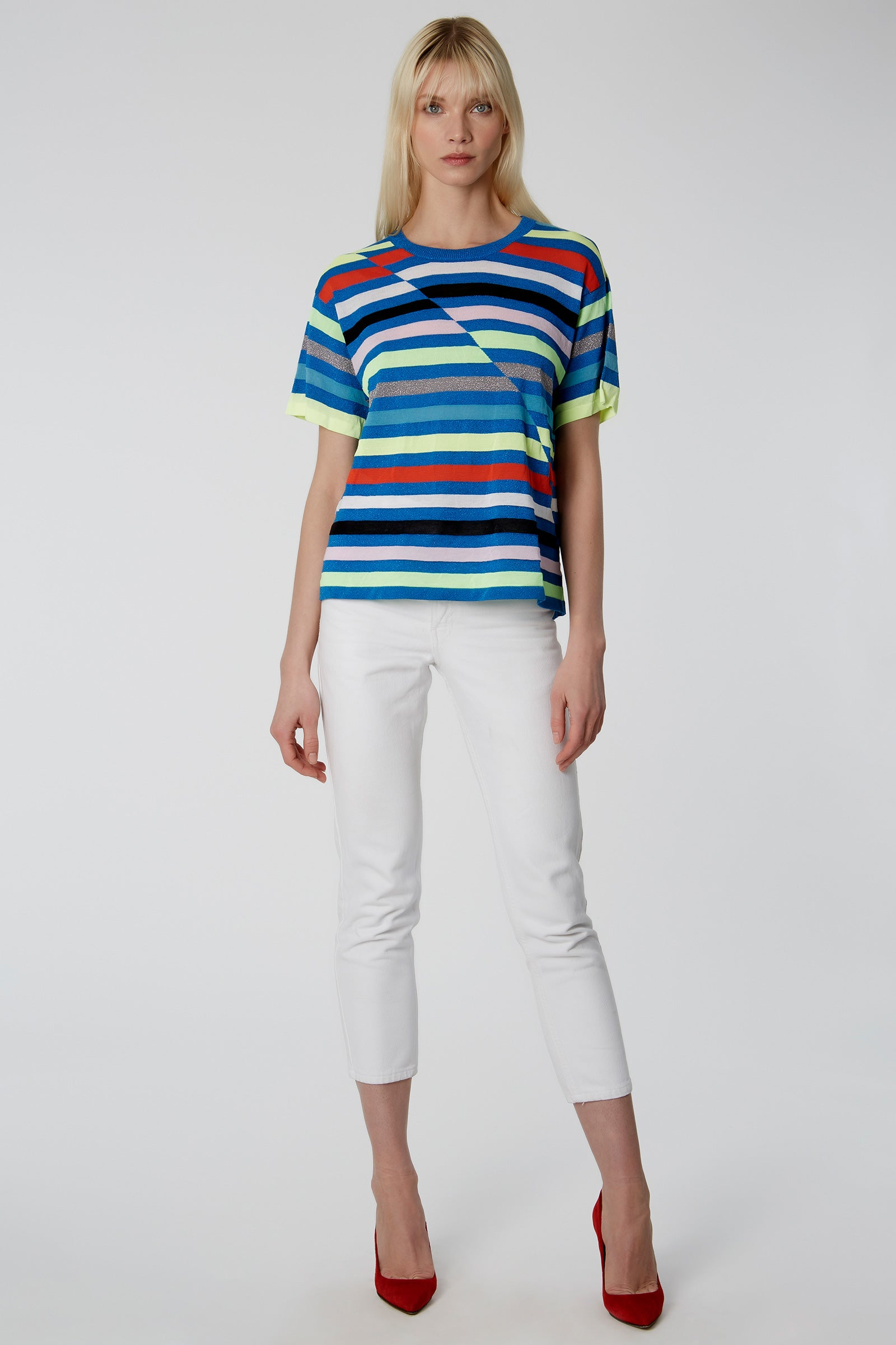 Hawaii Stripe Boyfriend Tee