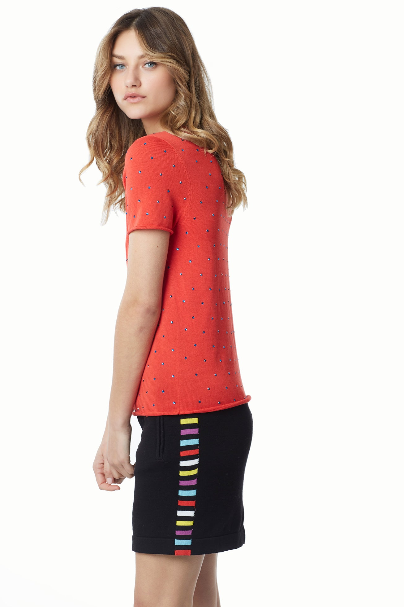 Bedazzle Cotton Modal Knit Tee