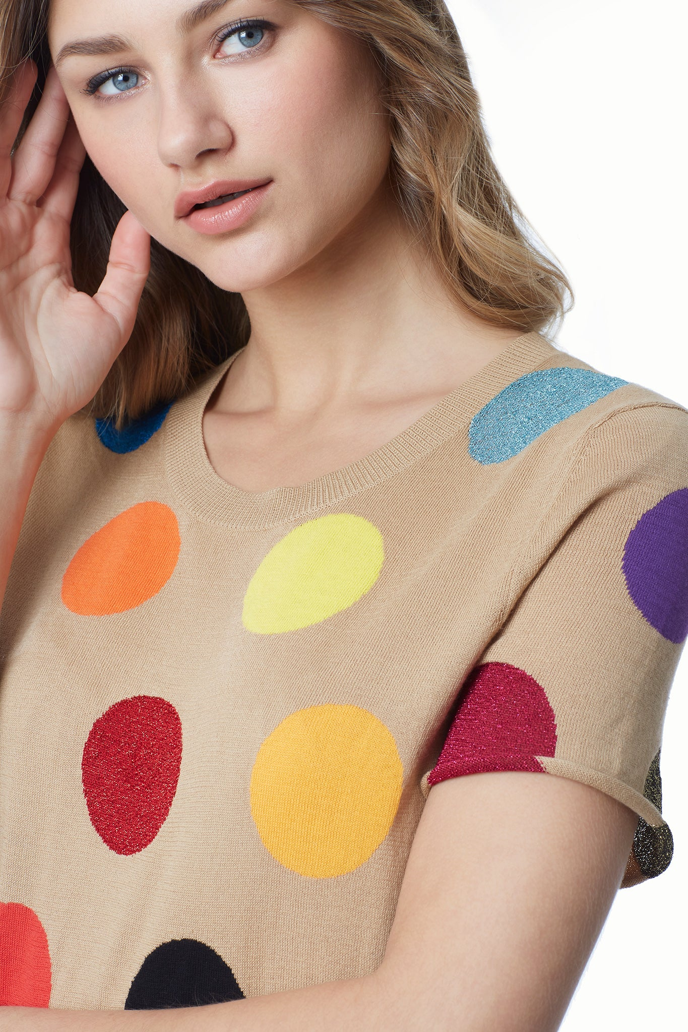 Dots Cotton Knit Tee