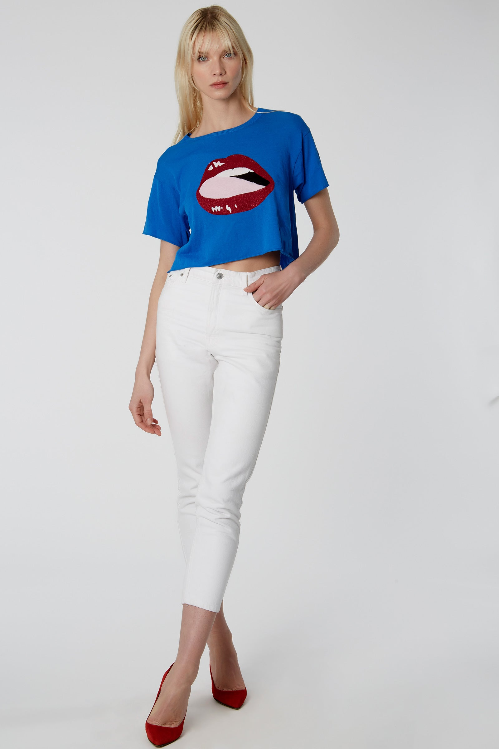 Lips Cropped Tee