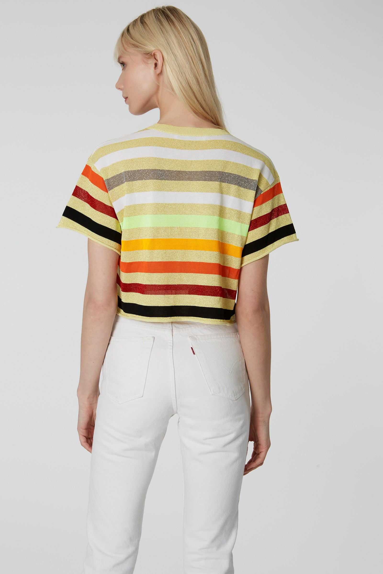 Sunset Stripe Cropped Tee