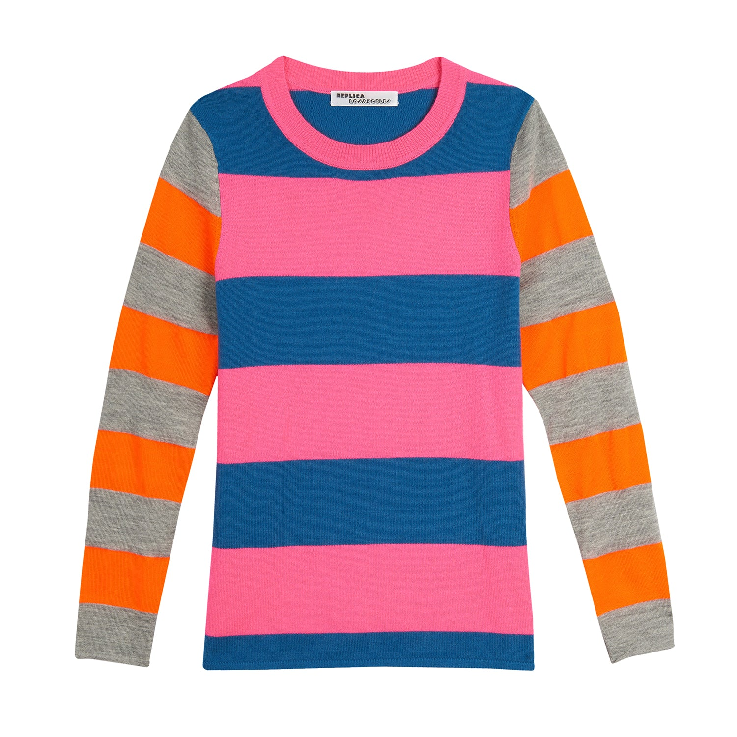 Cashmere Neon Stripe Long Sleeve Tee