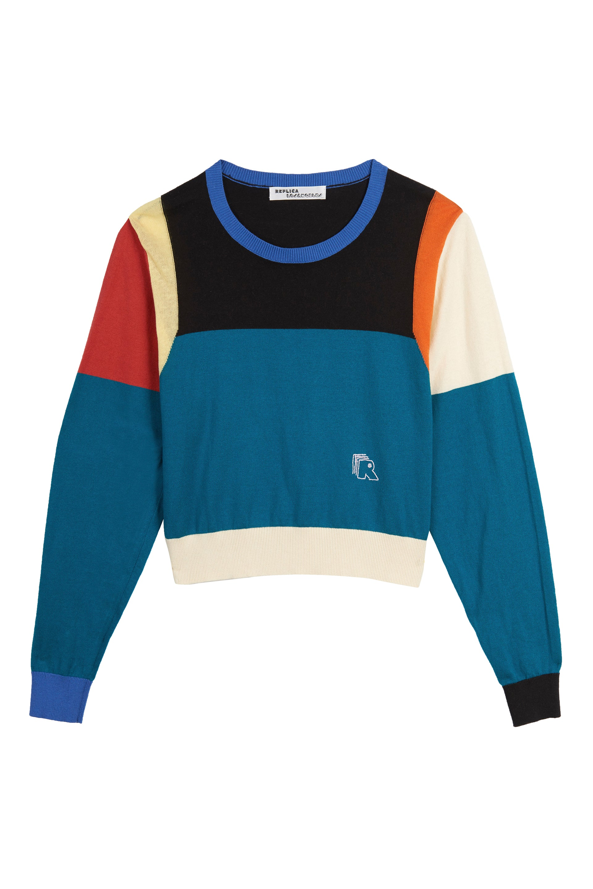 Color Block Cropped Sweatshirt