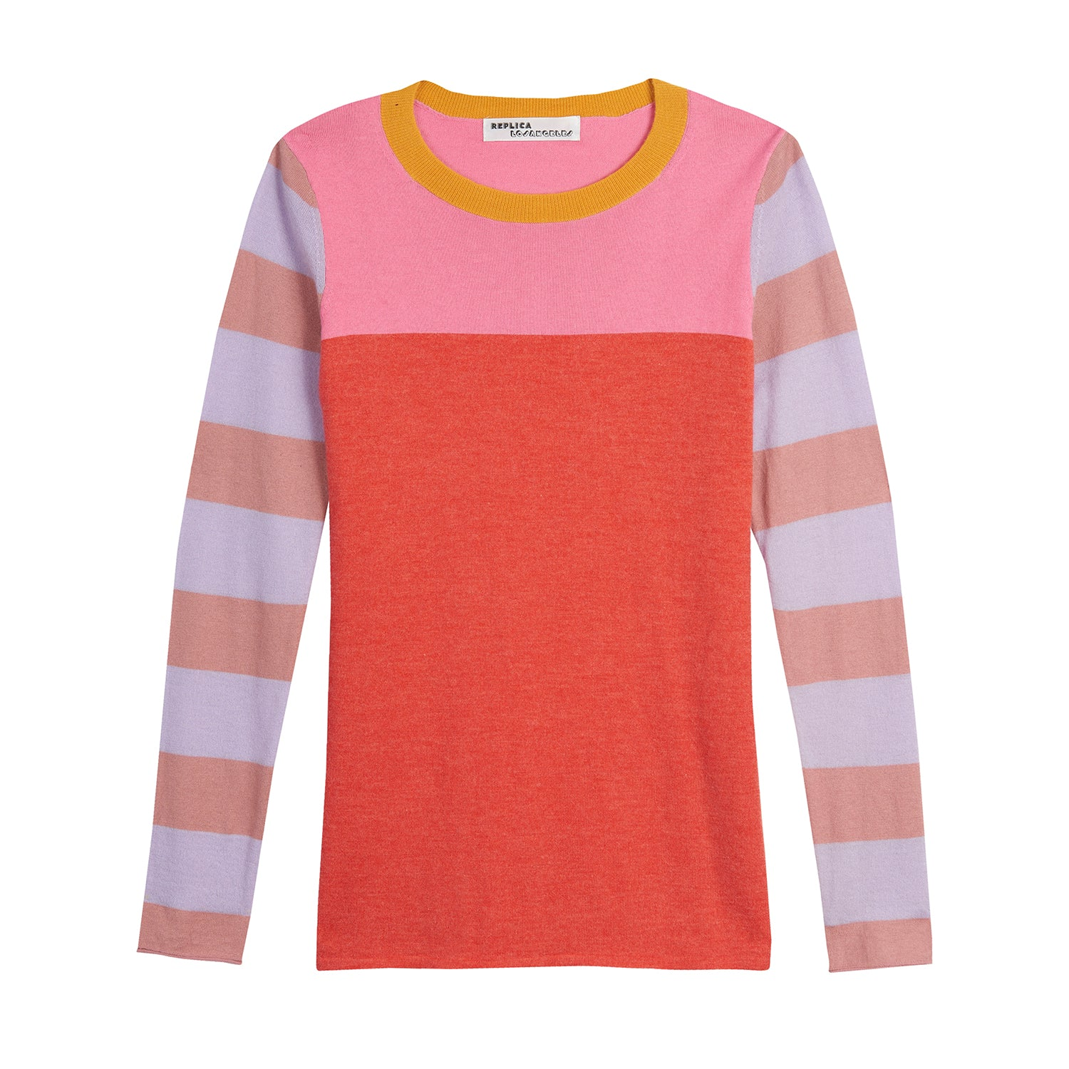 Fine Cashmere Rugby Stripe Long Sleeve Tee