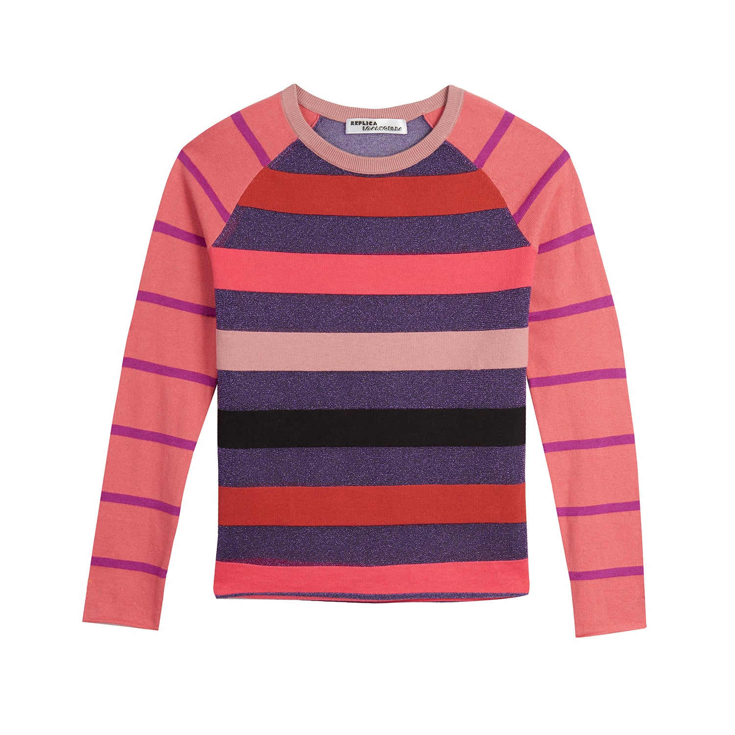 Super Stripe Cotton Cashmere Baseball Tee