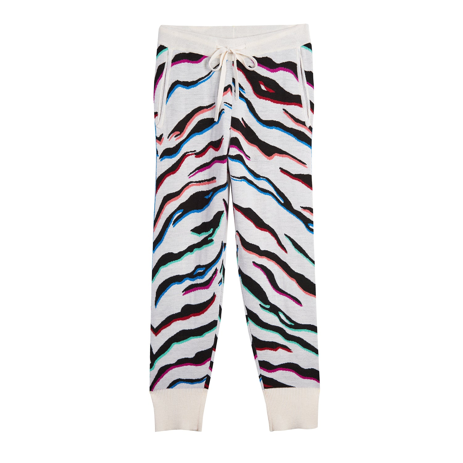 Cashmere and Lurex Tiger Striped Sweatpant