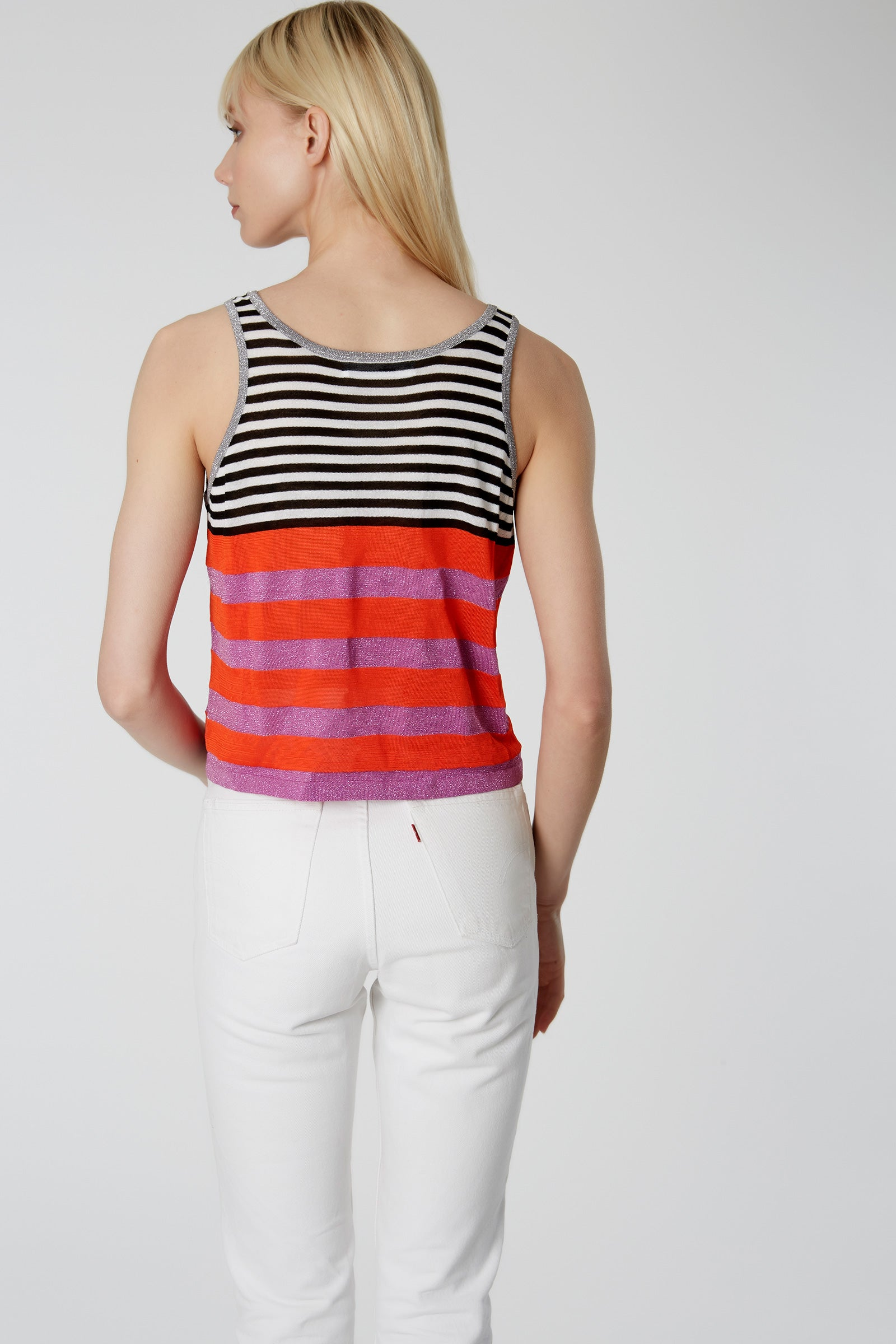Mix Stripe Cropped Tank