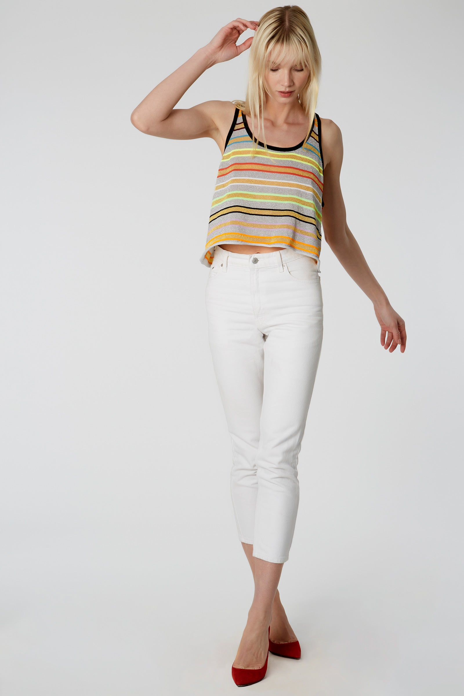 Vendome Stripe Cropped Tank