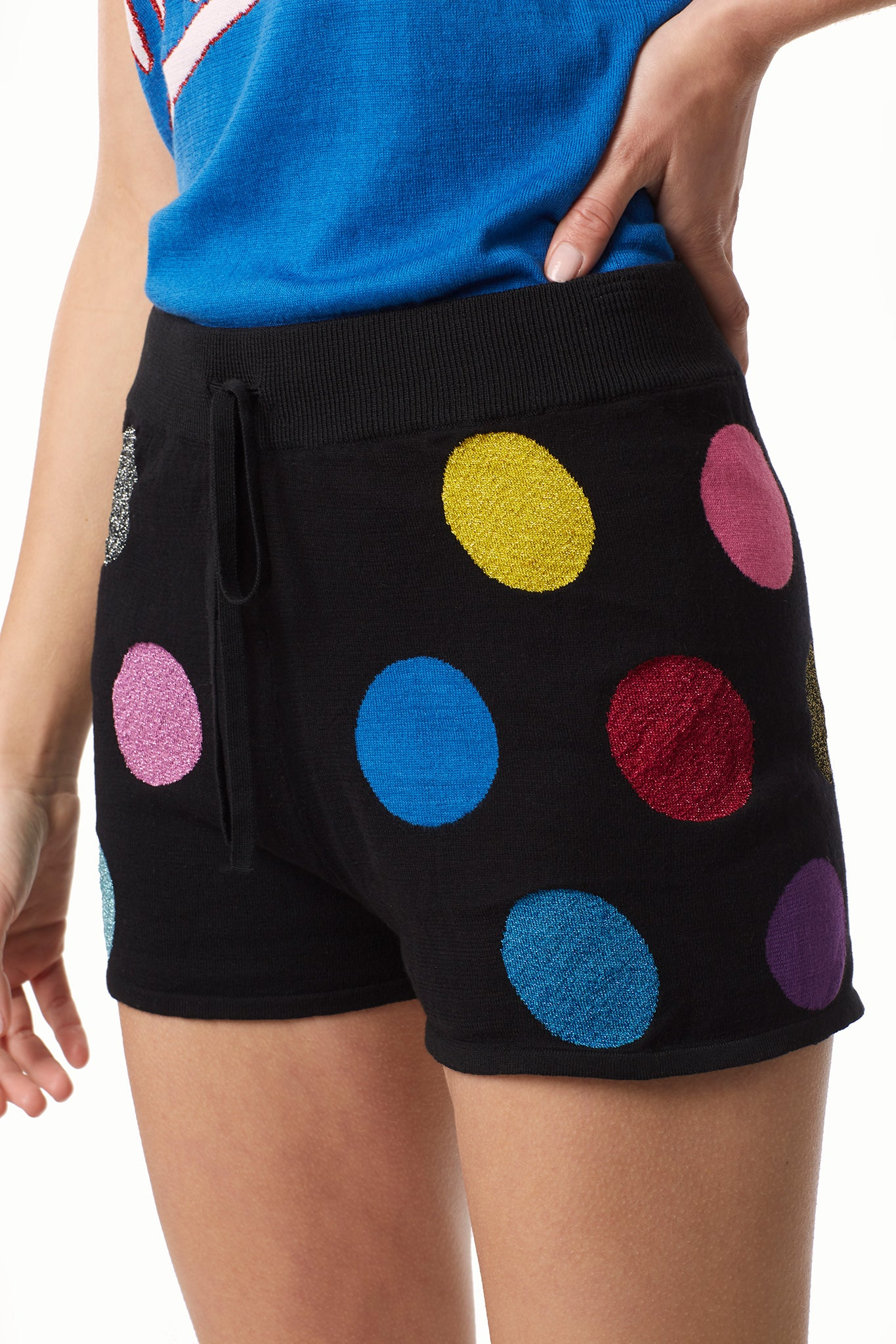 Dots Cotton Knit Shorts
