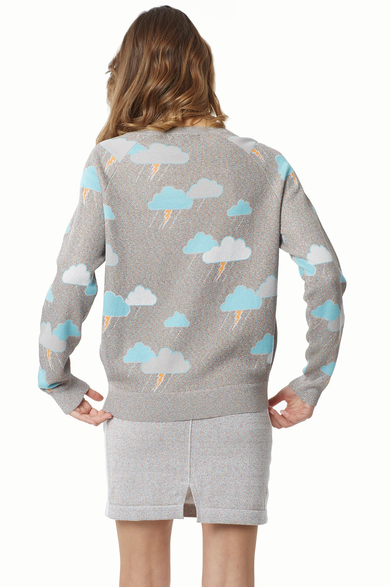 Stormy Rainbow Lurex Knit Sweatshirt