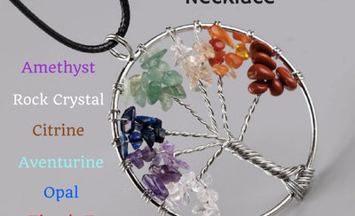 The 7 Chakra Tree of Life Healing Necklace Benefits and Meaning