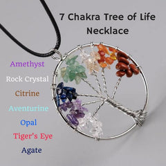 7 Chakra Tree of life healing necklace benefits and meaning