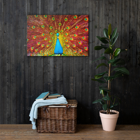 Image of Power Of the Peacock | Vibrant HD Canvas