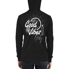 Load image into Gallery viewer, Good Vibes Only | Unisex zip up hoodie
