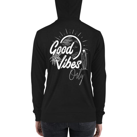 Good Vibes Only | Unisex zip up hoodie