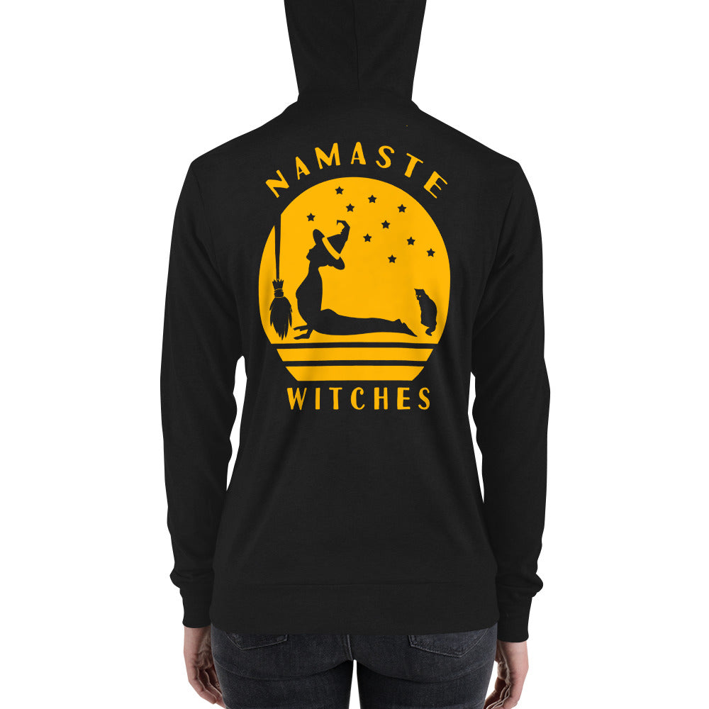 Namaste Witches | Halloween Unisex zip up hoodie