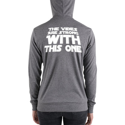 Eliminate The Ego Strong Vibes | Unisex zip hoodie